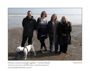 Diverse Learners Team with Charmaine McKissock in Hornsea April 2014