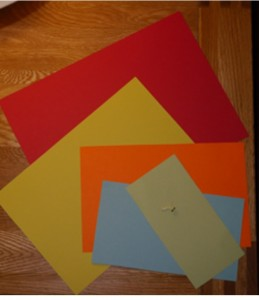 MRI scanner in pieces using Coloured card